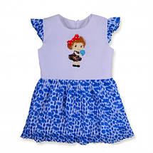 Красивое летнее детское платье на девочку, хлопок, шифон, р. 92,98,104., фото 3
