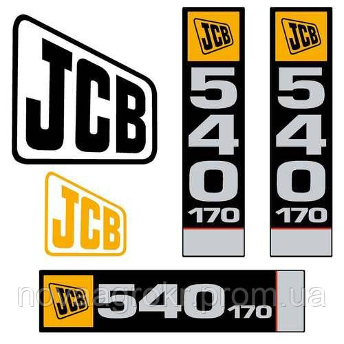 Комплект наклеек JCB 540-170