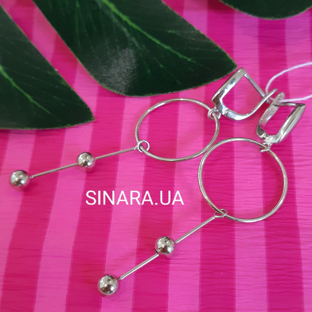 Серебряные серьги Balls - Ceрьги минимализм серебро