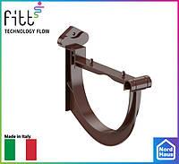 FITT пластиковые водосточные системы. Стабилизатор желоба Fitt 125 коричневый , ПВХ водосточная система