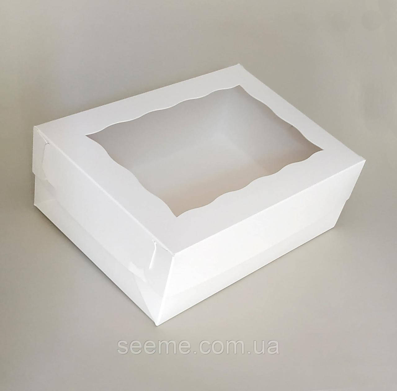 Коробка подарочная с окошком 255x180x90 мм