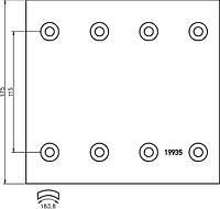 Комплект гальмівних накладок Textar 1993511