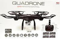 Квадрокоптер K1000G GPS Авто взлет\посадка, 33 см, WIFI, камера, возврат