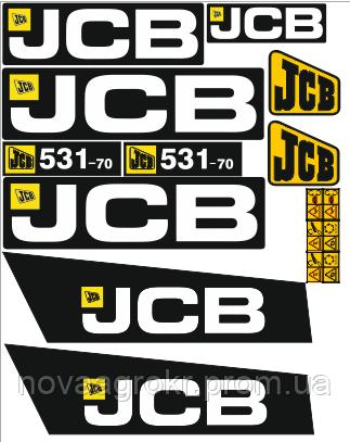 Комплект наклеек телескопический погрузчик JCB 531-70