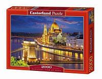 Пазлы Панорама Будапешта в сумерках на 2000 элементов