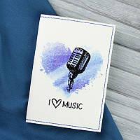 """Обложка для паспорта """"I love music"""" + блокнотик, фото 1"""