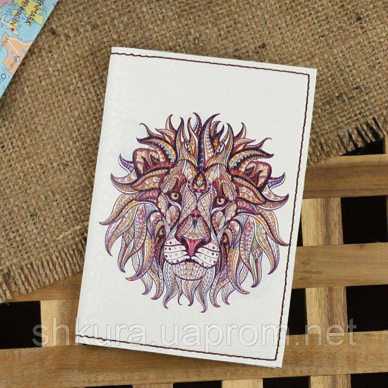 """Обложка для паспорта """"Ethnic lion"""" + блокнотик"""