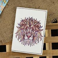 """Обложка для паспорта """"Ethnic lion"""" + блокнотик, фото 1"""
