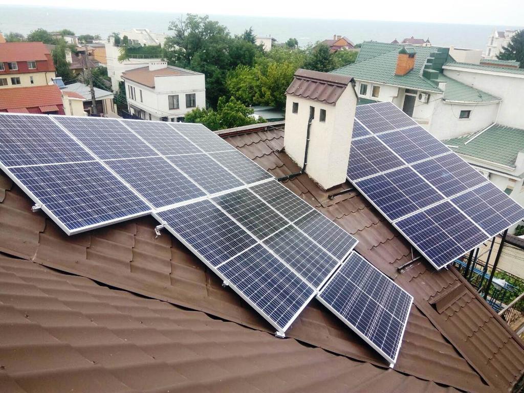"""Одесса солнечная электростанция под """"зеленый"""" тариф мощностью 10,7 кВт Risen + SolarEdge Одесская область"""