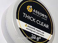 Гель для наращивания ногтей Thick Clear, 20 g, фото 3