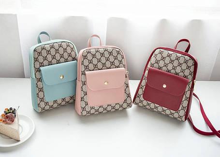 Стильный не большой рюкзак для модных девушек, фото 2