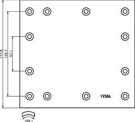 Комплект гальмівних накладок Textar 1938402