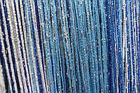 """Шторы-нити  радуга """"дождик"""" (синий+голубой+белый), фото 1"""