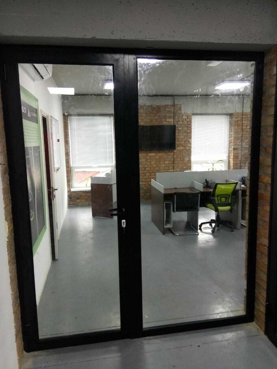 Двери в офис лофт из алюминиевого профиля