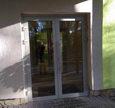 Входные двери из алюминиевого профиля