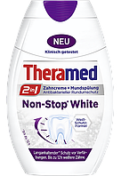 Зубна паста + ополіскувач Theramed 2in1 Non - stop whine 75 ml