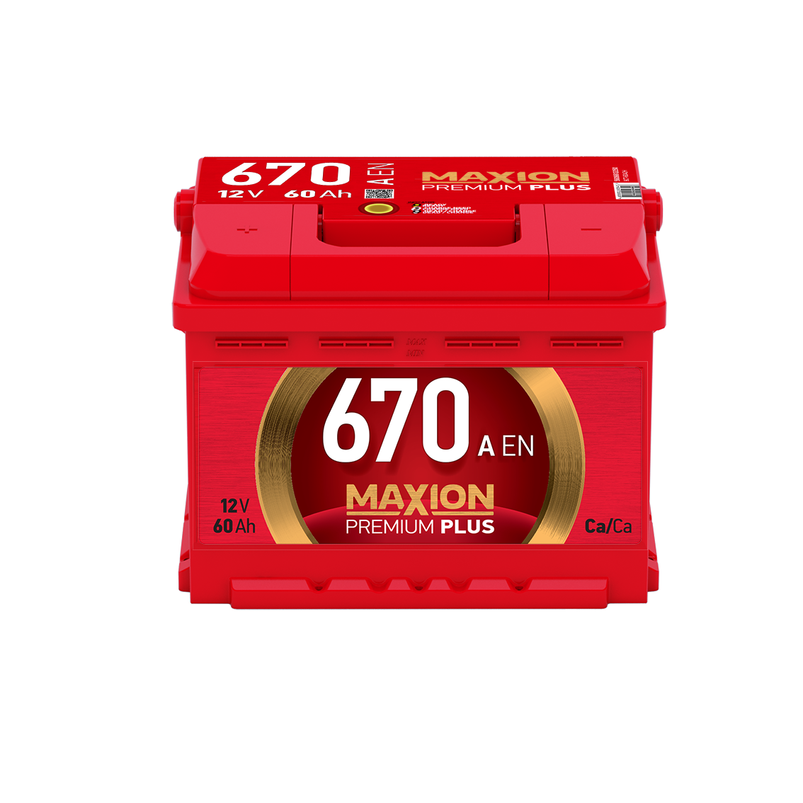 АКБ MAXION PREMIUM PLUS 6CT-60A2H 670A L+ 242*175*190