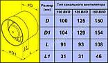 Осевой канальный вентилятор Домовент 150 ВКО, фото 2