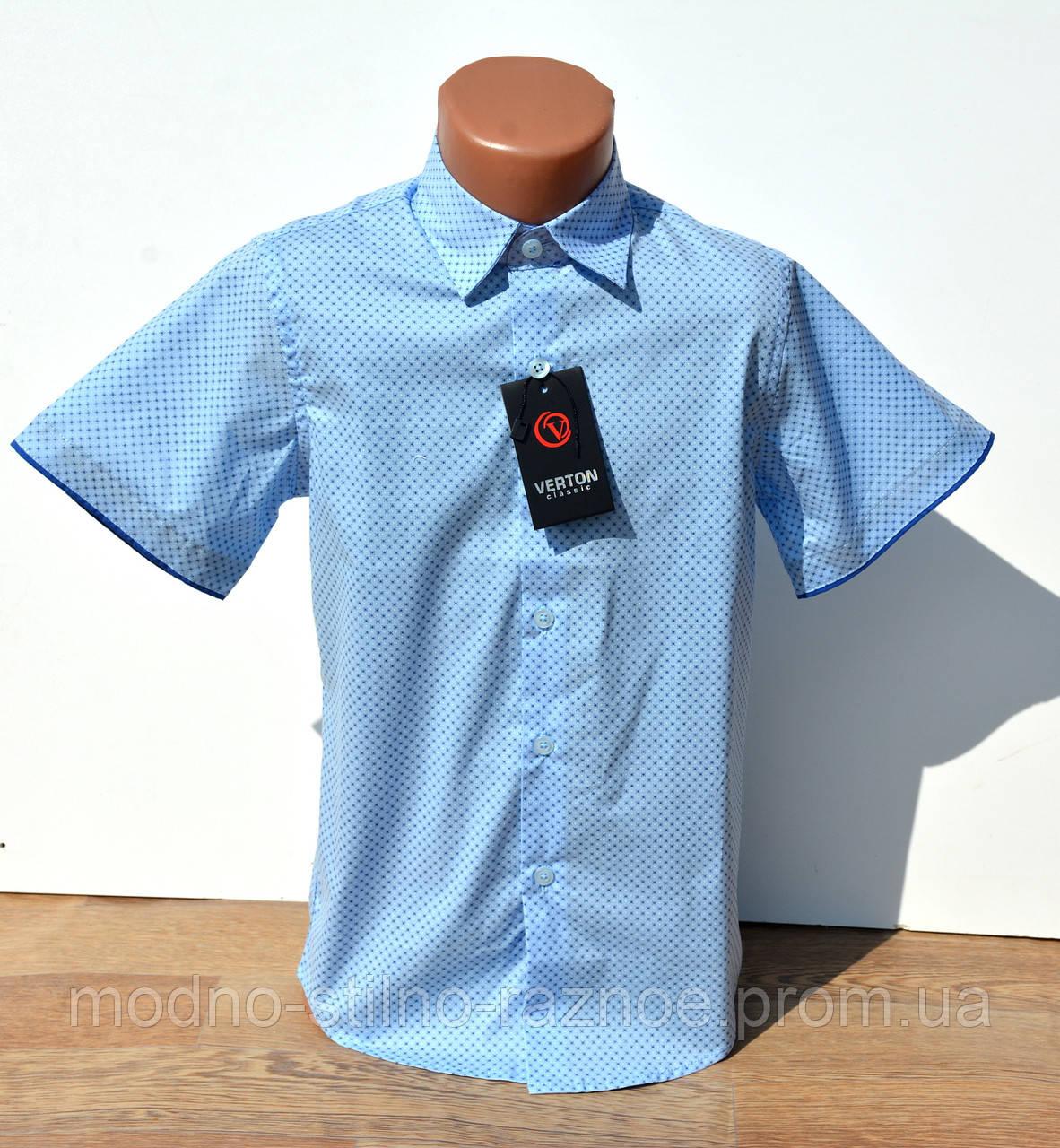 Рубашка шведка на мальчика. Короткий рукав. 6-13 лет нарядная