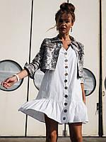 Котоновое платье на пуговицах 19699