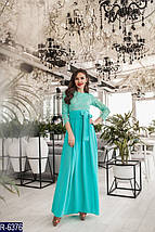 Ментоловое платье в пол, фото 2