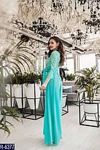 Ментоловое платье в пол, фото 3