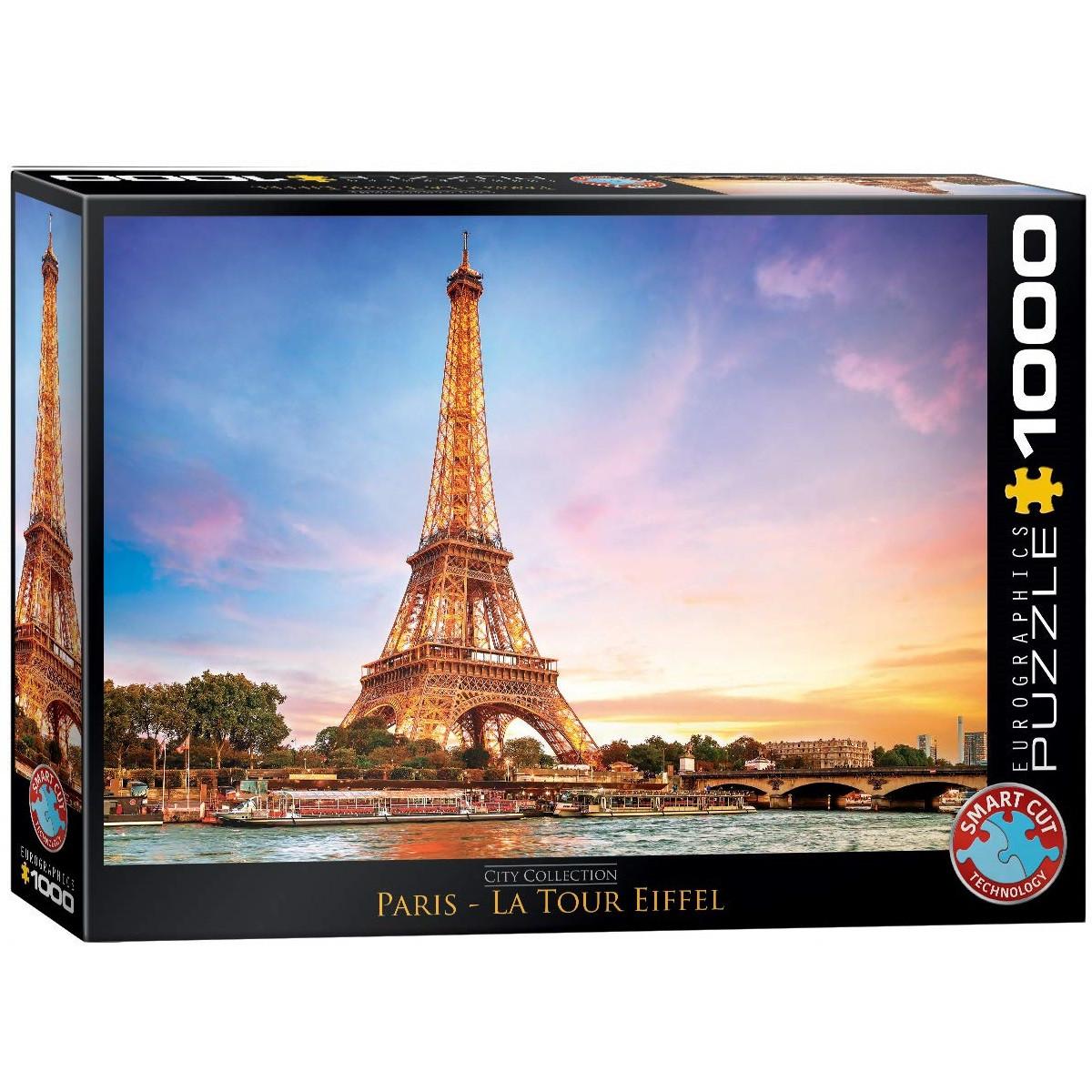 """Пазл """"Париж. Ейфелева вежа"""" 1000 елементів EuroGraphics (6000-0765)"""