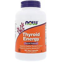 """Поддержка щитовидной железы NOW Foods """"Thyroid Energy"""" (180 капсул)"""