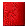 """Кошелек женский кожаный на внутренней кнопке с карманом для монет """"Bubbles mini"""" (Макей). Цвет красный, фото 2"""
