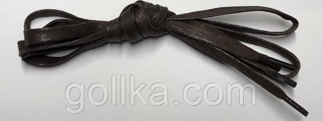 Шнурки плоские темно-коричневые с пропиткой