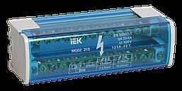 Шины на DIN-рейку в корпусе (кросс-модуль) ШНК 2х15 L+PEN ИЭК