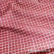 52015 Клеточка (бордовый) для квилтинга, трапунто, пэчворка, для пошива кукол и текстильных игрушек., фото 2