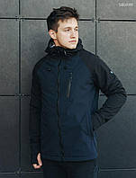 Мужская куртка Staff soft shell Solar navy and black
