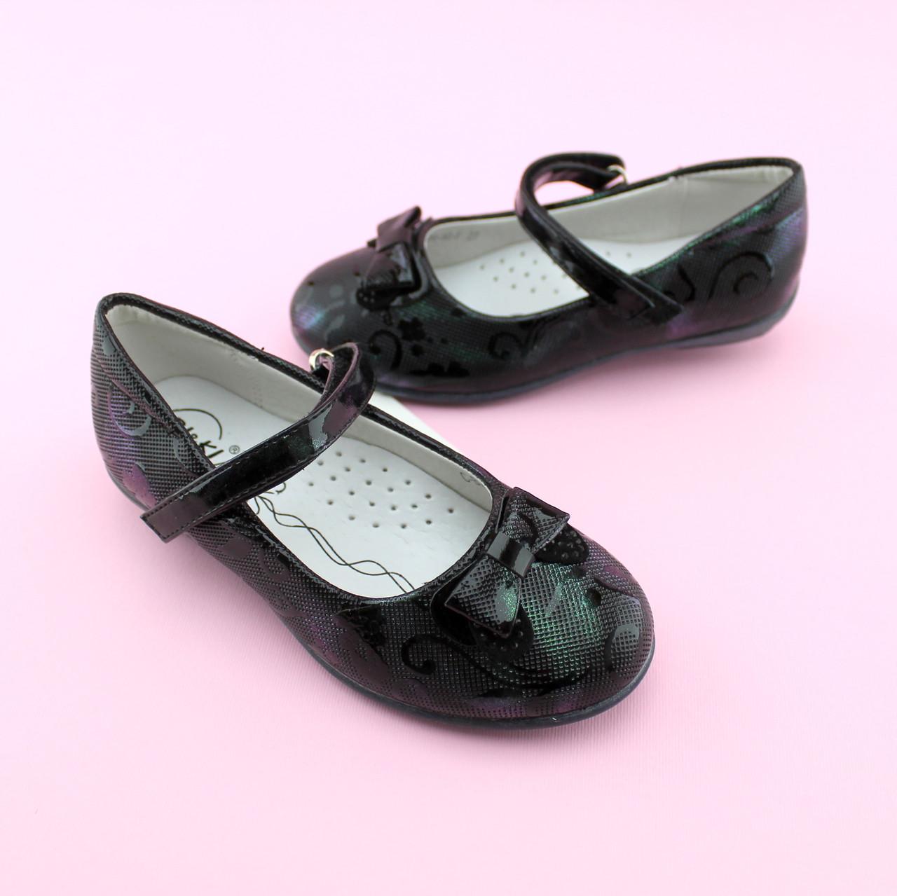 Туфли лаковые с бантиком на девочку тм BI&KI размер 27,28,29,30,31,32