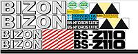 Комплект наклеек на комбайн Bizon z110