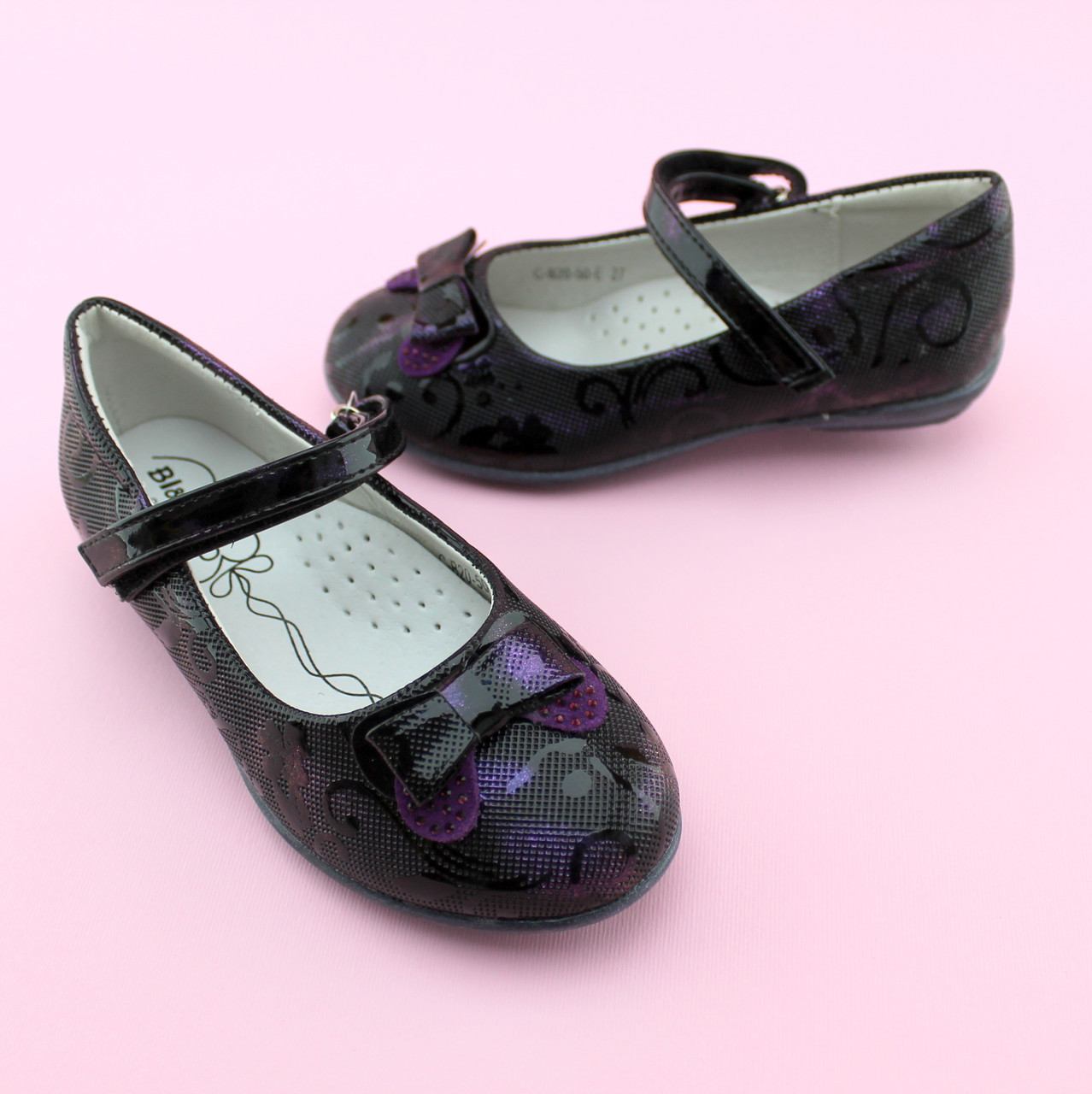 Туфли для девочки Фиолетовые тм BI&KI размер 27,28,29,30,31,32