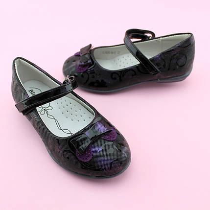 Туфли для девочки Фиолетовые тм BI&KI размер 27,28,29,30,31,32, фото 2