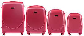 Набор чемоданов 4 штуки в 1 Wings K310 на 4 колесах Розовый