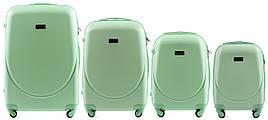 Набор чемоданов 4 штуки в 1 Wings K310 на 4 колесах Мятный