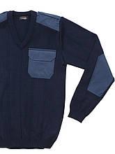 """Свитер форменный """"Orion V"""", v-образный воротник, CODIRISE™, тёмно-синий"""