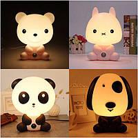 Ночник  детский  , светильник, собака, кролик, панда, медведь