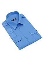 """Рубашка форменная с длинным рукавом на поясе """"Standart"""" CODIRISE™, синяя"""
