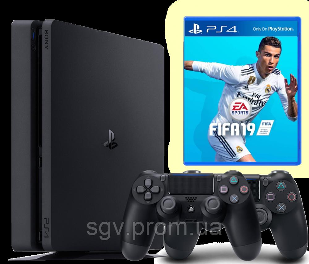 PlayStation 4 Slim 1Tb + FIFA 19 комплект  (СUH-2208B)