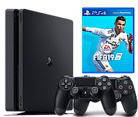 PlayStation 4 Slim 1Tb + FIFA 19 комплект  (СUH-2208B)