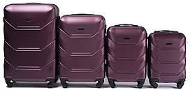 Набор чемоданов 4 штуки в 1 Wings 147 на 4 колесах Бордовый