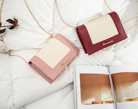 Модная сумочка клатч на цепочке, фото 2