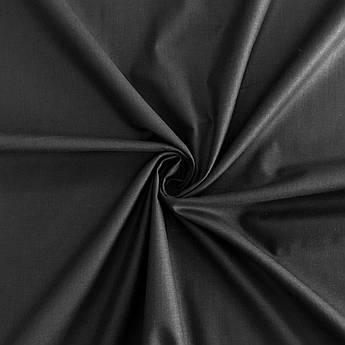 Польская хлопковая ткань черная 160 см