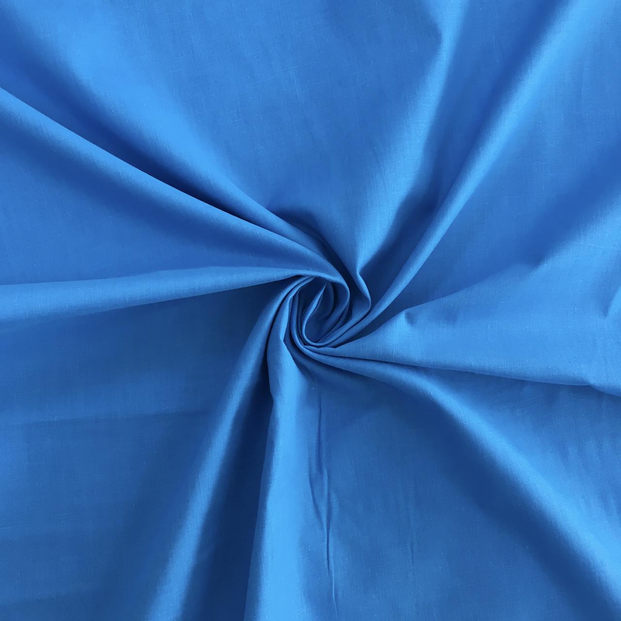 Польская хлопковая ткань лазурная 160 см