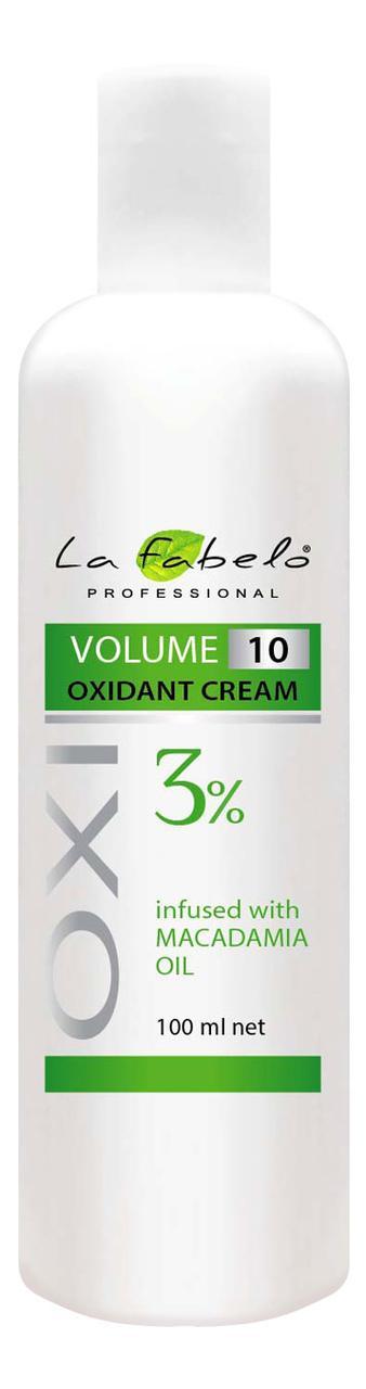 Крем оксидант La Fabelo с маслом макадамии 10 VOL 3% 100мл