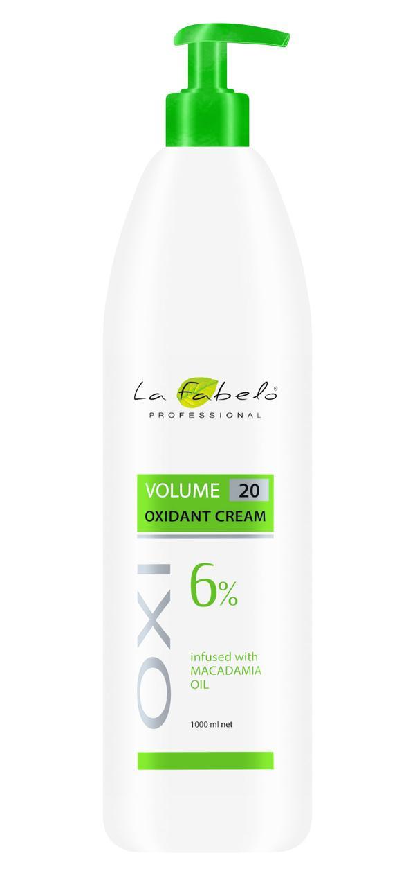 Крем оксидант La Fabelo с маслом макадамии 20 VOL 6% 1000мл